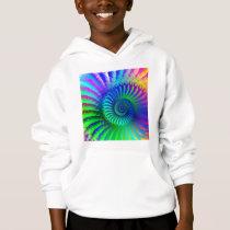 Kids Hooded Sweatshirt - Psychedelic fractal blue