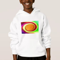 Kids Hooded Sweatshirt - Rainbow Abstract Pattern