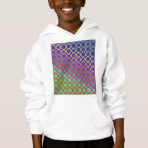 Kids Hooded Sweatshirt - Rainbow Mandala Pattern