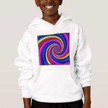Kids Hooded Sweatshirt - Rainbow Swirl Pattern