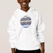 Kids' hoodie with blue mosaic
