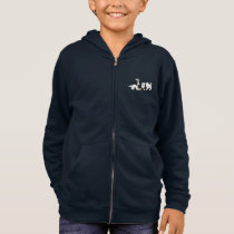 Kids'  Hoodie with illustration of puppies