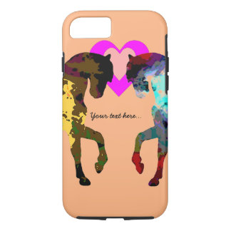 Kids Horse and Hearts iPhone 7 Case