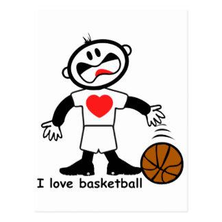 Kids I Love Basketball Postcard