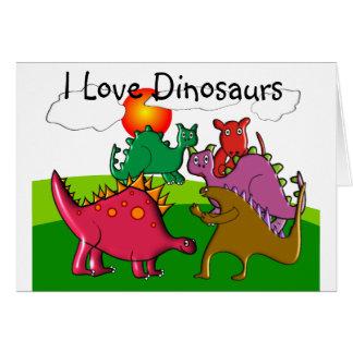 "Kids ""I Love Dinosaurs"" card"
