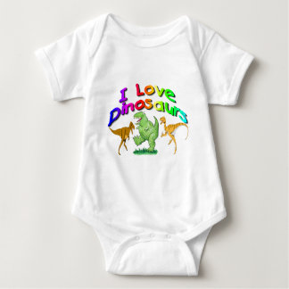 "Kids ""I Love Dinosaurs"" gifts Baby Bodysuit"