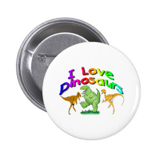 "Kids ""I Love Dinosaurs"" gifts Button"