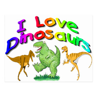 "Kids ""I Love Dinosaurs"" gifts Postcards"