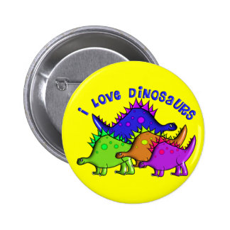 "Kids ""I LOVE DINOSAURS"" T-Shirts and Gifts Button"