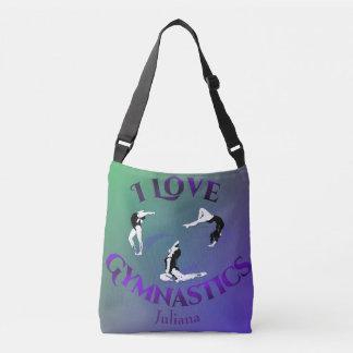 Kids I Love Gymnastics Personalized Crossbody Bag