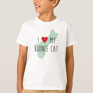 Kids' I Love My Boonie Cat Shirt (Green)
