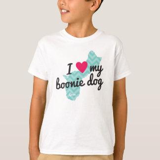 Kids' I Love My Boonie Dog Shirt (Blue)