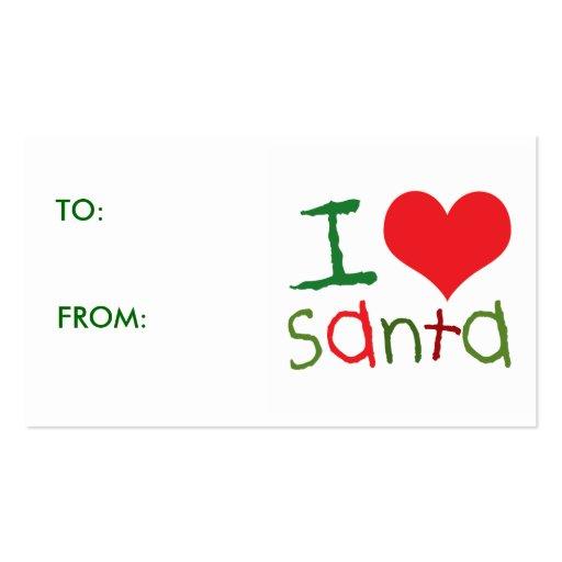 Kids I Love Santa Gift Tags Business Cards