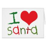Kids I Love Santa Greeting Cards