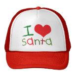 Kids I Love Santa Trucker Hat