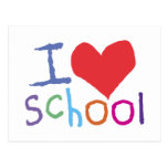 Kids I Love School Postcard