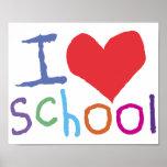 Kids I Love School Poster