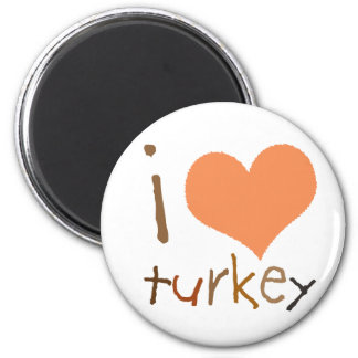 Kids I Love Turkey  Magnet