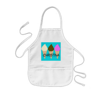 Kids Ice Cream Cones Custom Apron