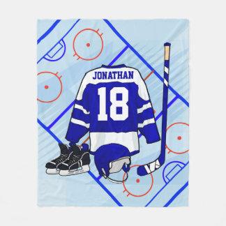 Kids Ice Hockey Bedroom and En Suite collection Fleece Blanket