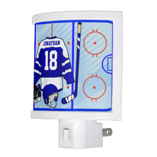 Kids Ice Hockey Bedroom and En Suite collection Night Light