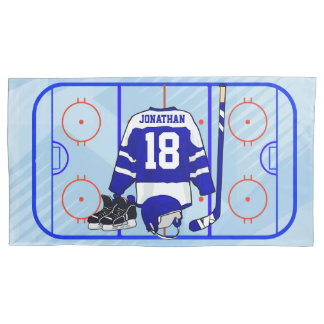 Kids Ice Hockey Bedroom and En Suite collection Pillow Case