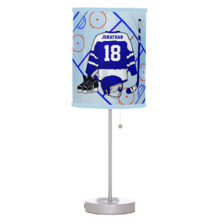 Kids Ice Hockey Bedroom Collection Table Lamp