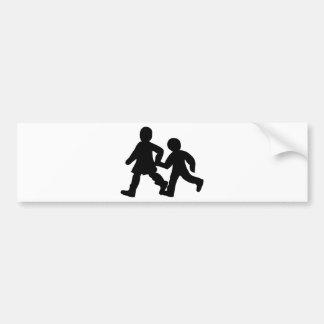 kids icon bumper sticker