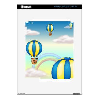 kids in hot air balloon skins for iPad 3