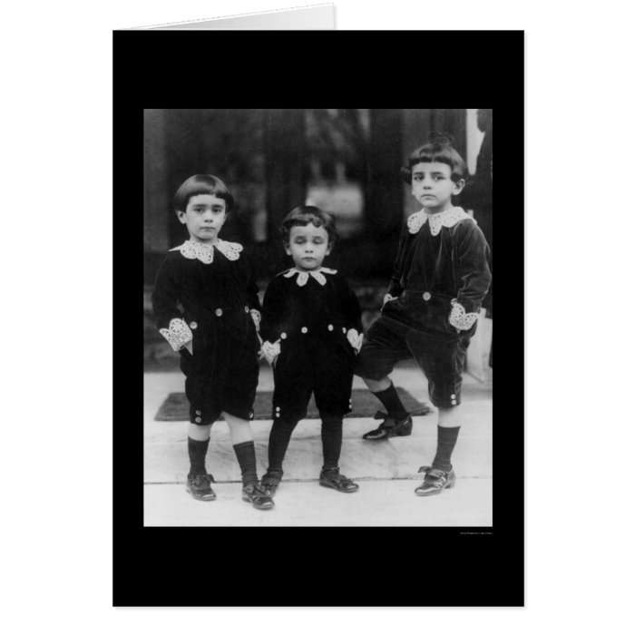 Kids in Little Lord Fauntleroy Suits 1914 Card