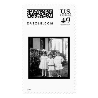 Kids in Sunday Best Dayton, OH 1898 Postage Stamp
