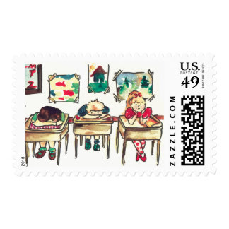 Kids in the class postage