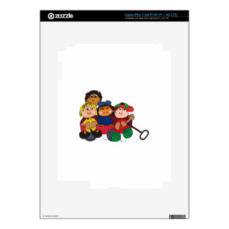 Kids in Wagon Decals For iPad 3