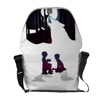 Kids in woods courier bag