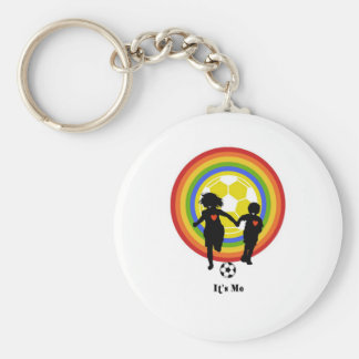 Kids, it's me, soccer fans and player basic round button keychain