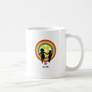 Kids, it's me, soccer fans and player coffee mug