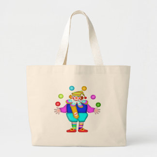 Kids Juggling Clown Tote Bag