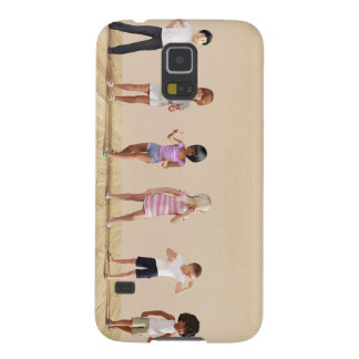 Kids Jumping Playing Inside the House Illustration Galaxy S5 Cover