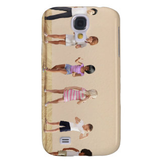Kids Jumping Playing Inside the House Illustration Samsung Galaxy S4 Case