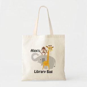 Personalised  Customised name Australian made Red Apple with pocket \u2013 12 x14 inches Kids library bag  girls library  lesson tote bag