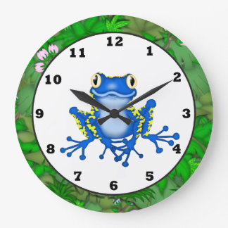 Kids Jungle Frog cartoon wall clock