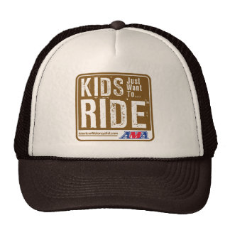 Kids Just Want To Ride Mesh Hats
