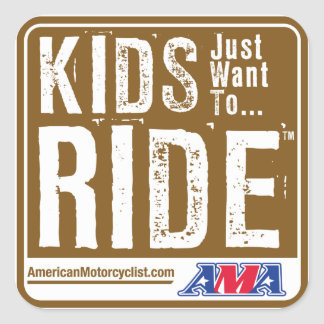 Kids Just Want To Ride Square Sticker