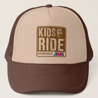 Kids Just Want To Ride Trucker Hat