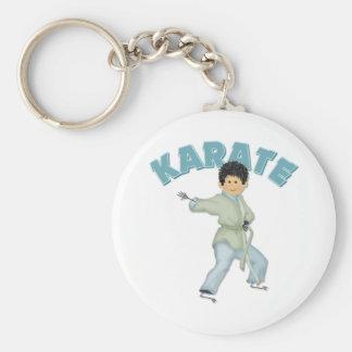 Kids Karate Gift Basic Round Button Keychain