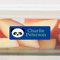 Kids Kawaii Panda Green Blue Yellow Waterproof Kids' Labels