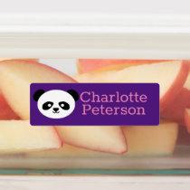 Kids Kawaii Panda Pink Purple Waterproof School Kids' Labels