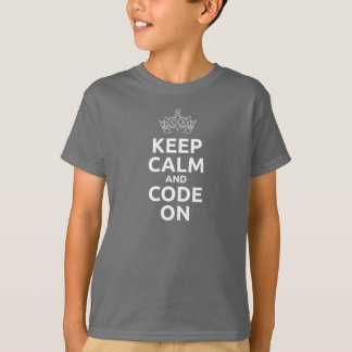 Kid's Keep Calm and Code On T-shirt