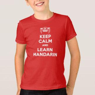 Kids Keep Calm and Learn Mandarin Red T-shirt
