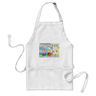 Kid's lab partner wants prenuptial agreement adult apron